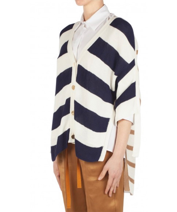 Cream/Navy Cardigan